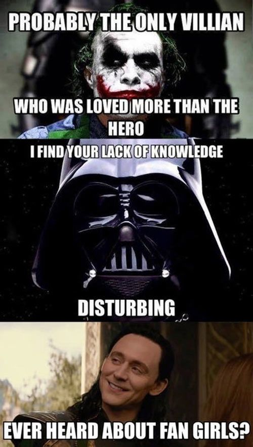 Joker Vs Vader Vs Loki Funny Pictures Quotes Memes Funny Images Funny Jokes Funny Photos