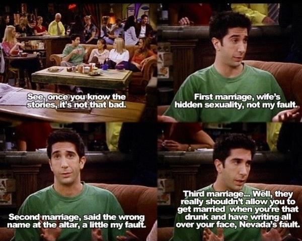 Ross Geller, the divorce force | Funny Pictures, Quotes ...