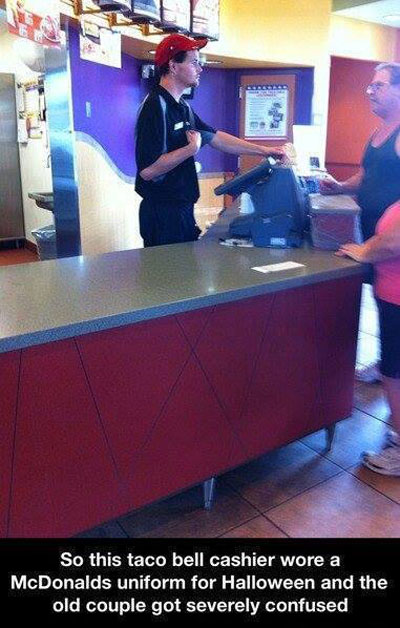 Halloween confusion at Taco bell