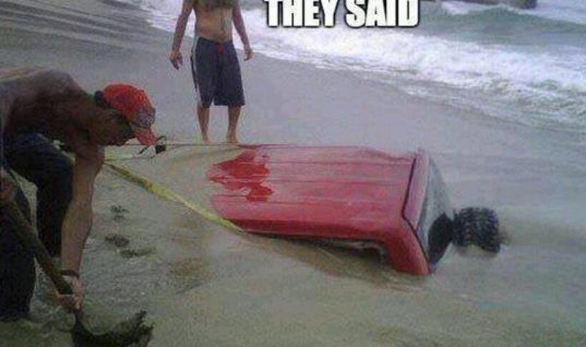 What happens when you drive on the beach