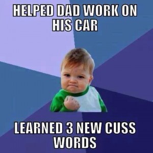 Helped Dad on his car