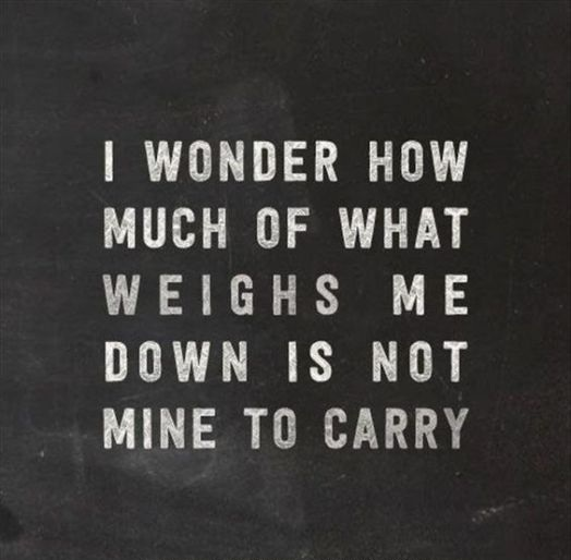 Not Mine To Carry