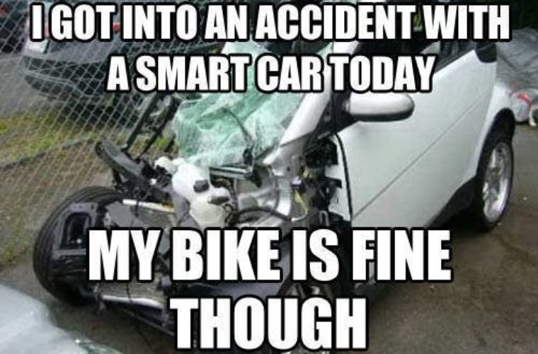 Accident With A Smart Car Funny Pictures Quotes Memes Funny