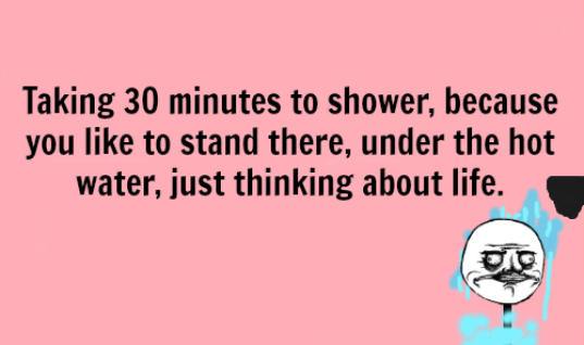 Taking time in shower
