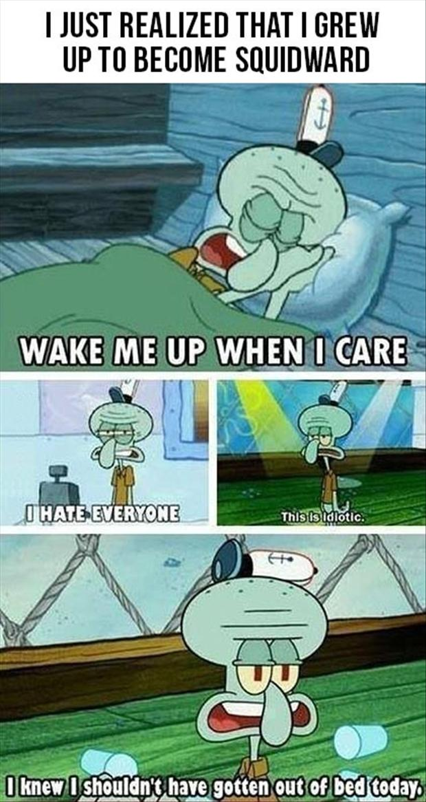 To become SQUIDWARD | Funny Pictures, Quotes, Memes, Jokes