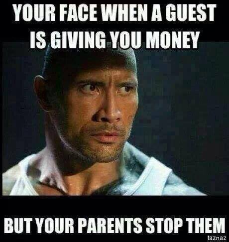 When a guest giving you money