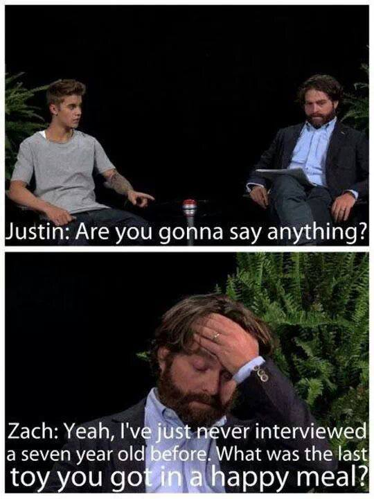 Zack interviewing Justin