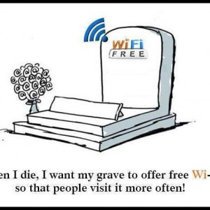 Grave with WiFi