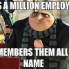 Has a million employees