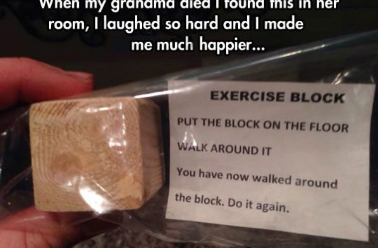 Funny exercise block