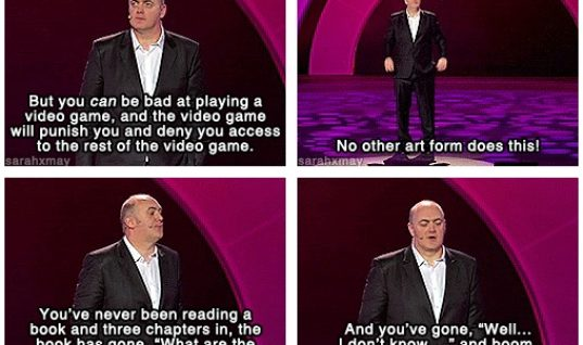 Video games do a thing that no other industry does