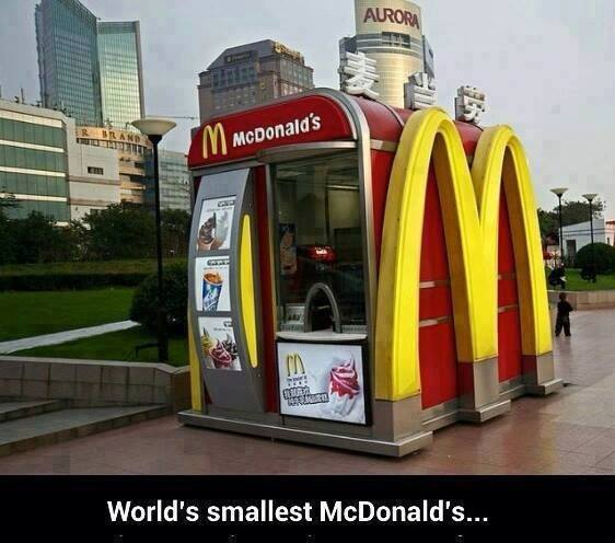 I guess you can't get super size here