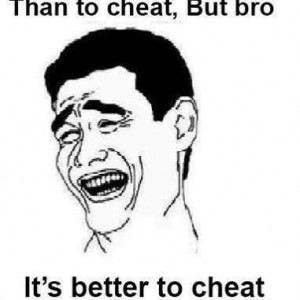 It's better to fail than to cheat..
