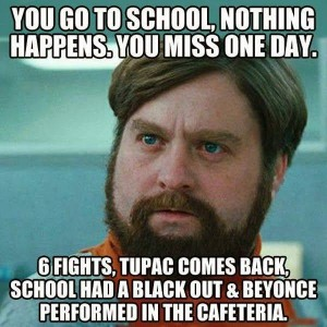 Missing a day at school