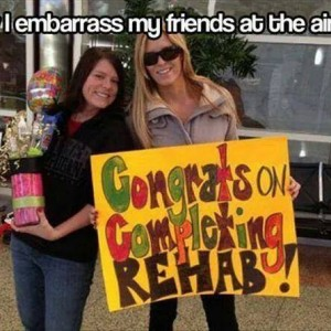Embarrassing friends at the Airport