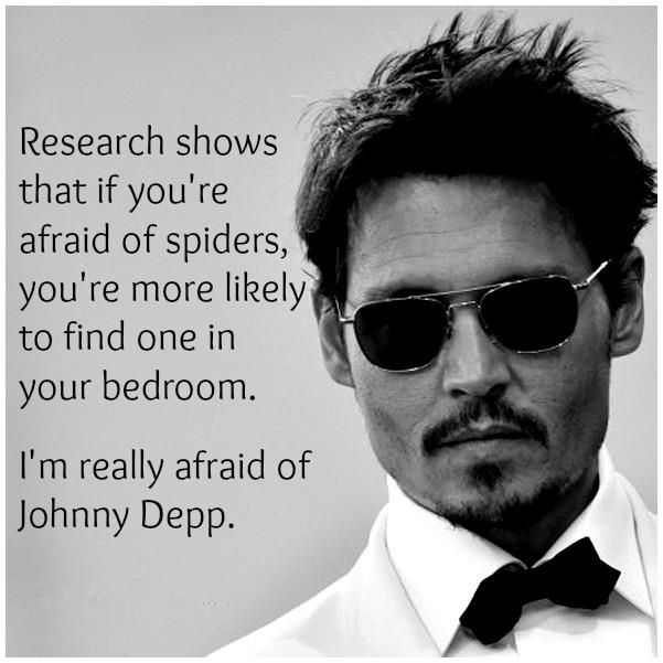 Funny Scared Quotes: Really Afraid Of Johnny Depp