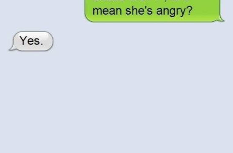 The girl is angry!