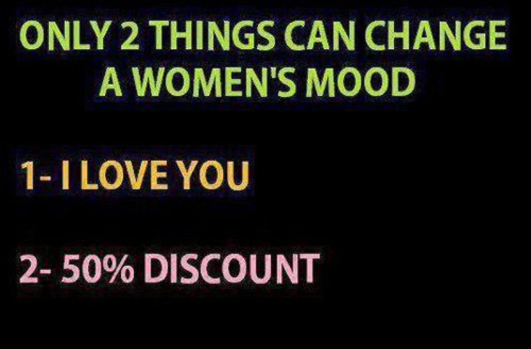 2 Things can change a woman's mood
