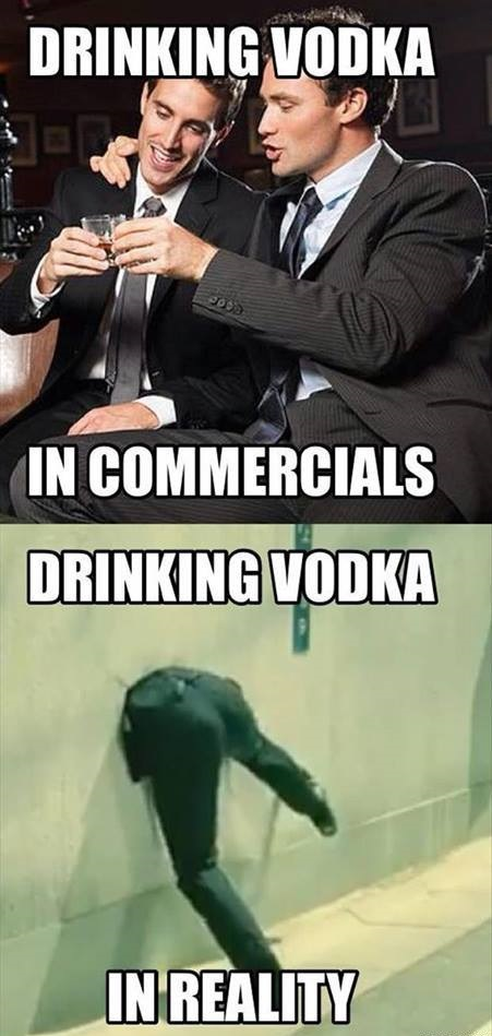 Funny Memes About Drinking Alone : Funny memes drinking vodka in commercials