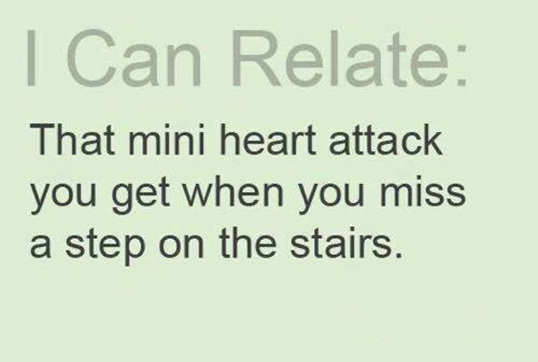 Miss a step on stairs