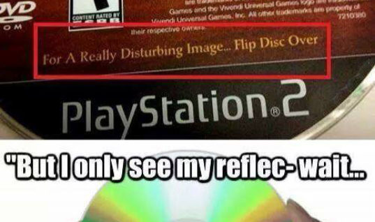 But I only see my reflection