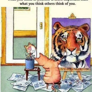What you think of yourself