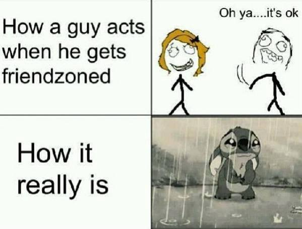 When a guy gets friendzoned