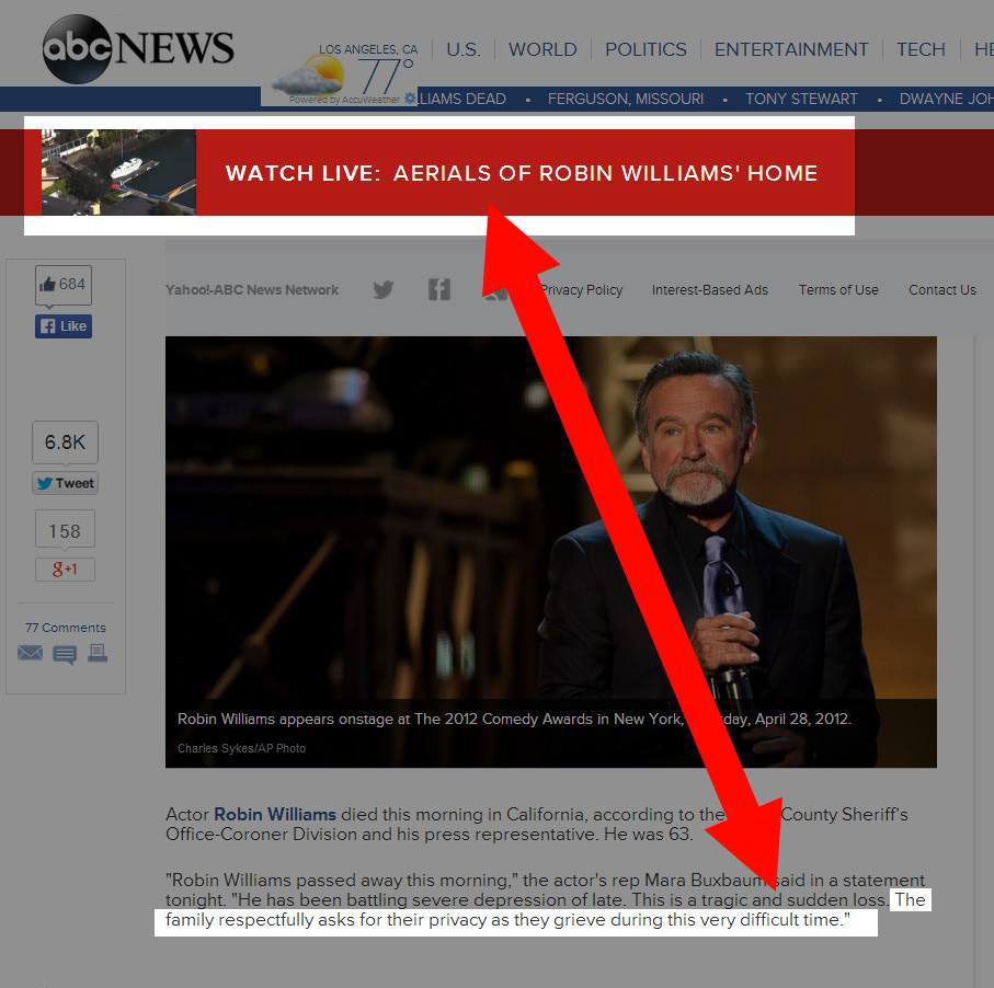 ABC News is contradicting