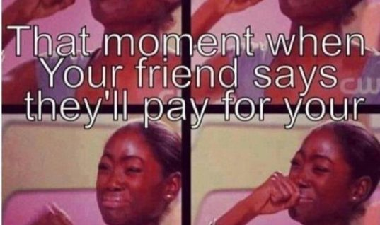 Friend Pays for your Food