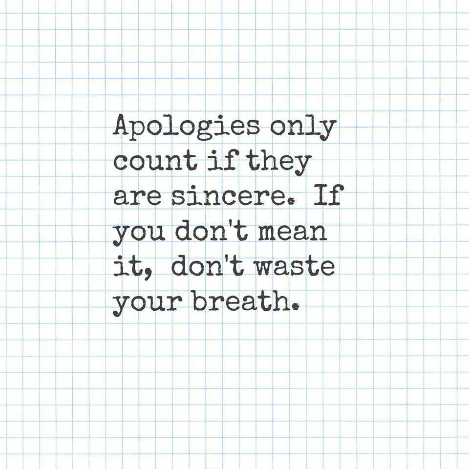 Apologies Only Count