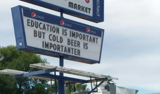 Education Vs Cold Beer
