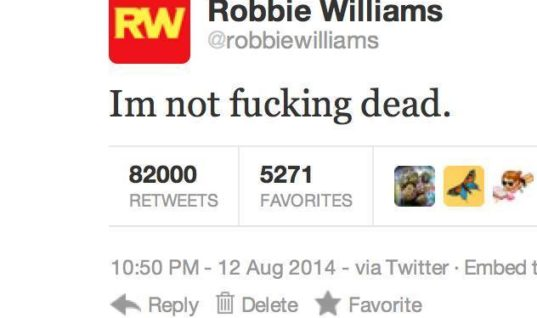 It's Robin and not Robbie