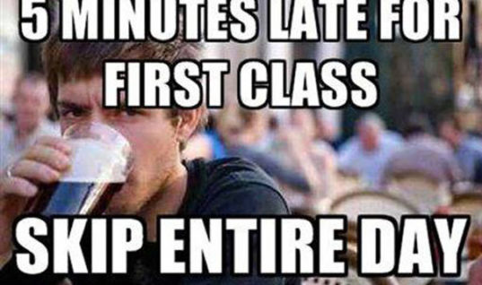 Late for 5 minutes to class