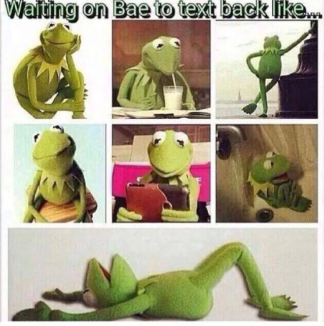Waiting for texts