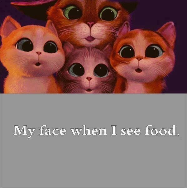 When I see food