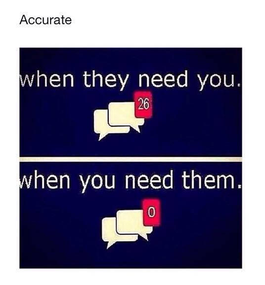 When people need you!