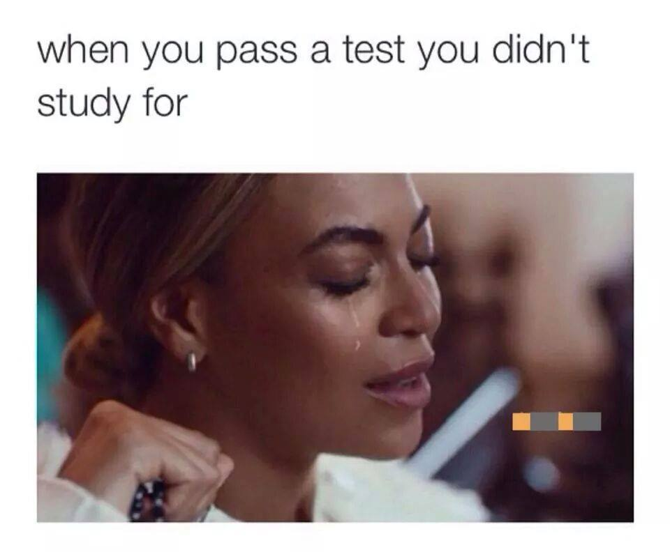 When you pass a test