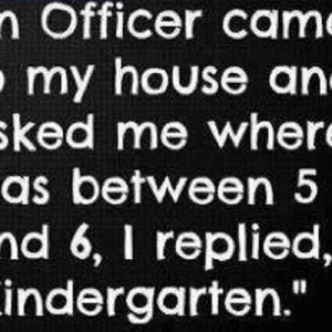 Officer Asked me where I was