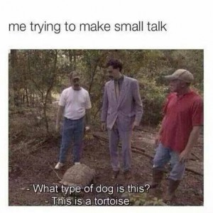 Trying small talk