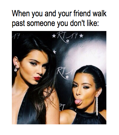 Walk past someone you hate