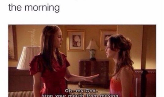 When People talk to me in morning