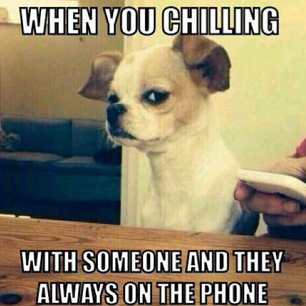 When friends are always on phone