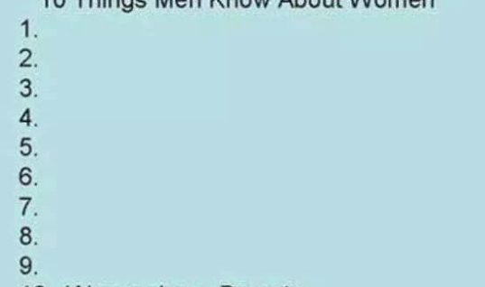 What Men know about Women