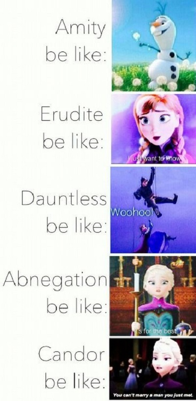 frozen divergent funny pictures quotes memes funny