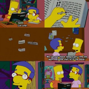 The Bible and the The Simpsons