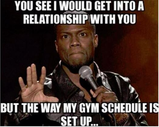 Gym Schedule | Funny Pictures, Quotes, Memes, Jokes