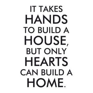 It Take Hand To Build A House