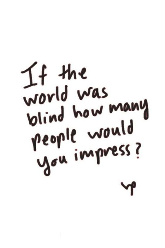 If The World Was Blind