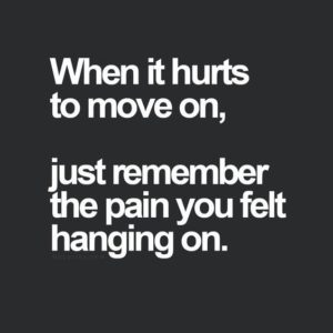 When It Hurts To Move One