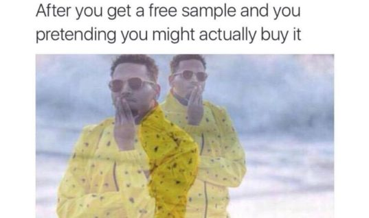 After You Get A Free Sample